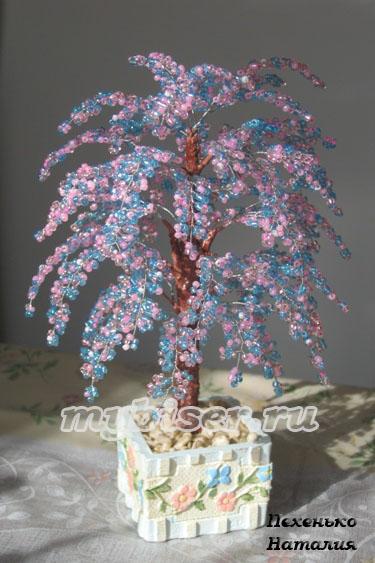 деревья и цветы из бисера, мастер-класс, схемы. деревья и цветы из.