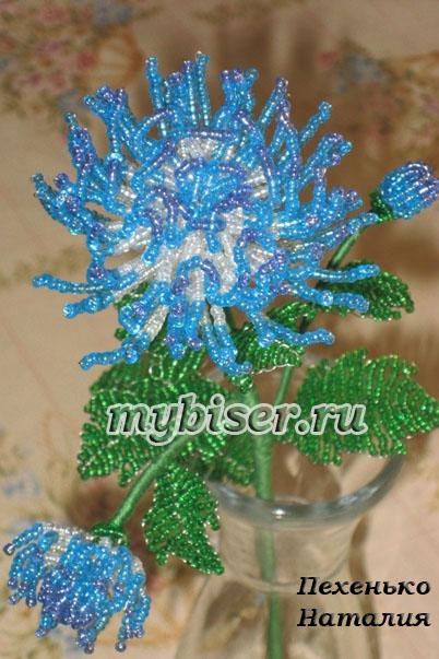 Бисероплетение хризантемы мастер класс - Делаем фенечки своими руками.
