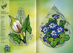 В книги представлены образцы витражей, схемы к ним.