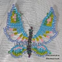 thumbs g6 Голубая бабочка из бисера