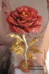 осенняя роза из бисера