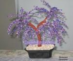 Дерево из бисера: Сиреневое дерево