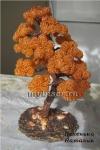 Дерево из бисера: Осенний бонсай