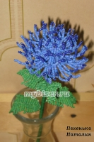 thumbs c12 Хризантема синяя из бисера