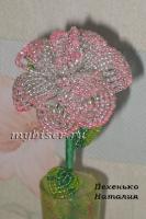 thumbs r1 Розовая розочка из бисера