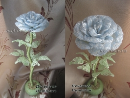 thumbs r16d Голубая роза из бисера