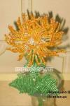 Хризантема оранжевая из бисера