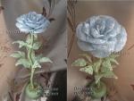 Голубая роза (бисер, рубка)